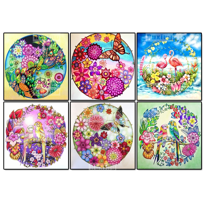 5D DIY Diamond mosaic Flower Bird diamond embroidery home decor painting cross stitch crystal Wall stick