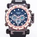 Nuevo Diseñador de Lujo Superior Marca TADA hombres Grandes Dial Relojes Militares 30 M a prueba de agua masculina Se Divierte Los Relojes Digitales relogio masculino