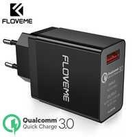 FLOVEME 18W Charge rapide 3.0 USB Charge rapide chargeur de Charge QC3.0 mur chargeur de téléphone portable pour iPhone Xiaomi Huawei P20 lite