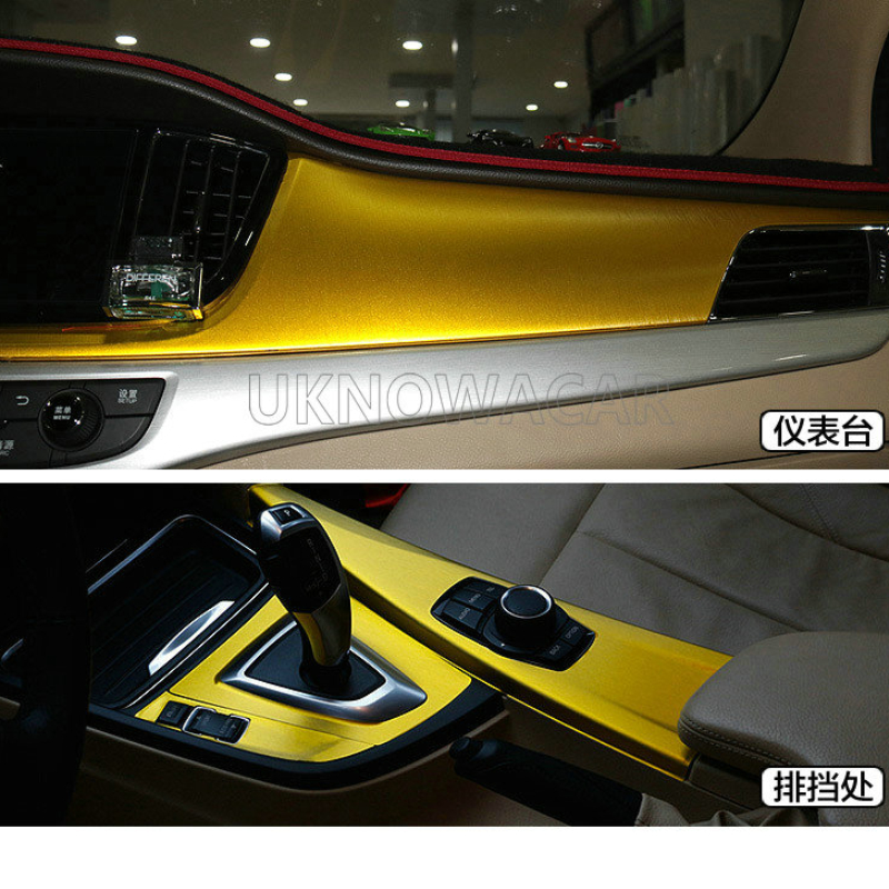 Image 2 - 10cm/20cm/30cmx152cm Car Styling Gold Metallic Brushed Aluminum Vinyl Matt Brushed Car Wrap Film Sticker Decal With Bubble-in Car Stickers from Automobiles & Motorcycles