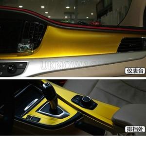 Image 4 - 10cm/20cm/30cmx152cm Car Styling Gold Metallic Brushed Aluminum Vinyl Matt Brushed Car Wrap Film Sticker Decal With Bubble