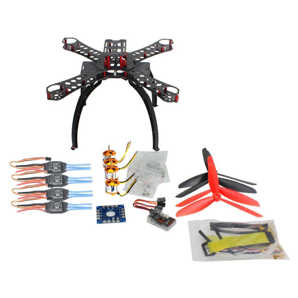 DIY Drone BNF Multicopter Kit 310 mm Fiberglass Frame QQ SUPER Multi rotor Flight Control 1400KV Motor 30A ESC F14891 E