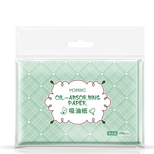 100 hojas/Paquete de cara profesional de maquillaje de aceite absorbente de limpieza Facial papel de Control de aceite película tisú