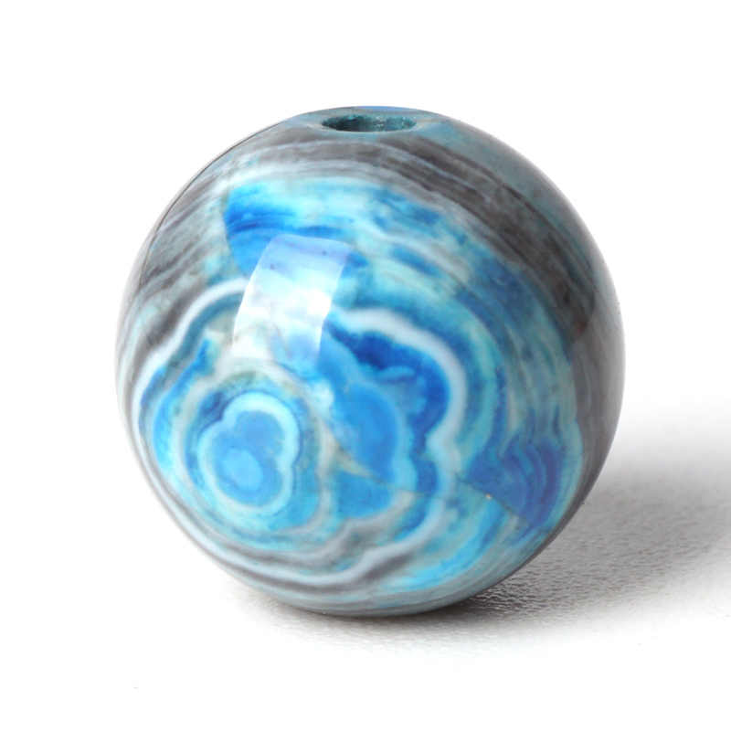 Gorgeous Blue Stripe Agate สร้อยข้อมือลูกปัดหินรอบหลวมลูกปัดนิล 6-10 มิลลิเมตรลูกปัดสำหรับมุสลิมอุปกรณ์เสริมเครื่องประดับทำ