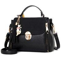473f6c7470c Women Handbag Leather Women Bag Women Messenger Bag Shoulder Crossbody  Handbag Flap Small Zipper Tassel Pendant