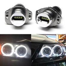 цена на 2014 Brand new High Power Led 40W !!! Cree LED Marker for BMW E90 E91 LED Angel Eyes, 4pcs 5W leds each OEM 63117161444