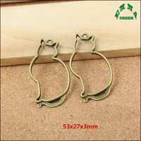 Cat Various Antique Silver Bronze Zinc Alloy Animal Cat Charms Pendants Connector Diy Handmade Jewelry Findings Accessories