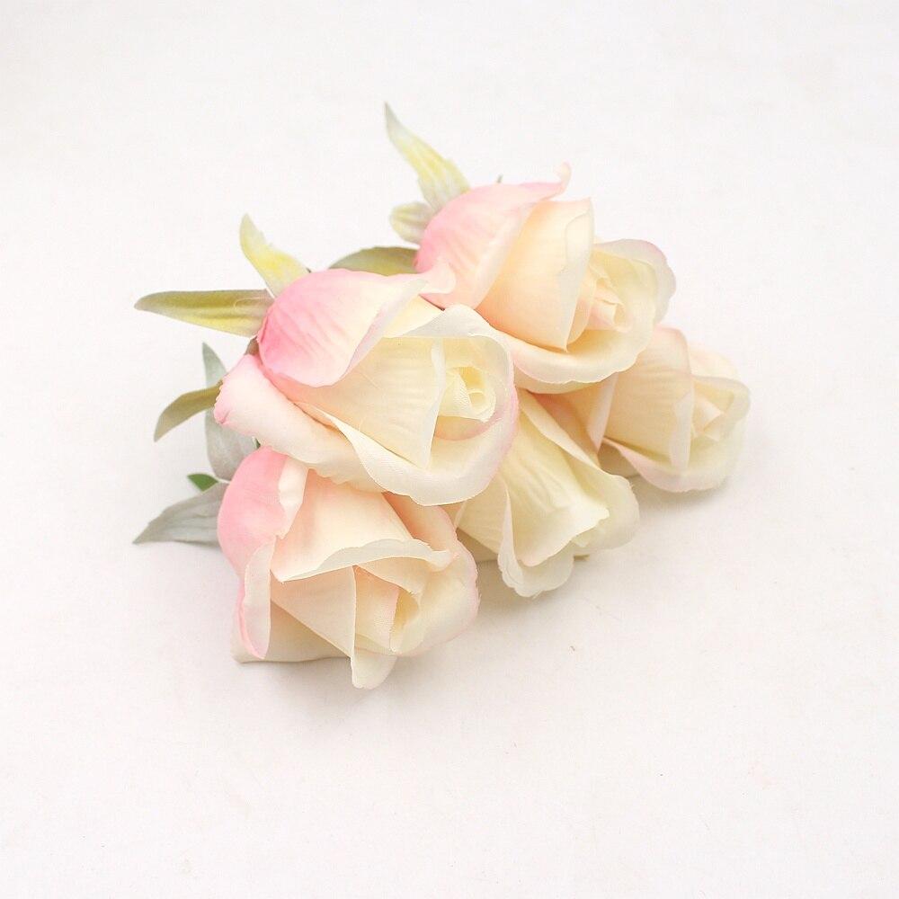 5 шт./лот 7 см Искусственный цветок тюльпан, шелковая головка для свадебного украшения, «сделай сам», скрапбукинг, ручная работа, аксессуары, ...