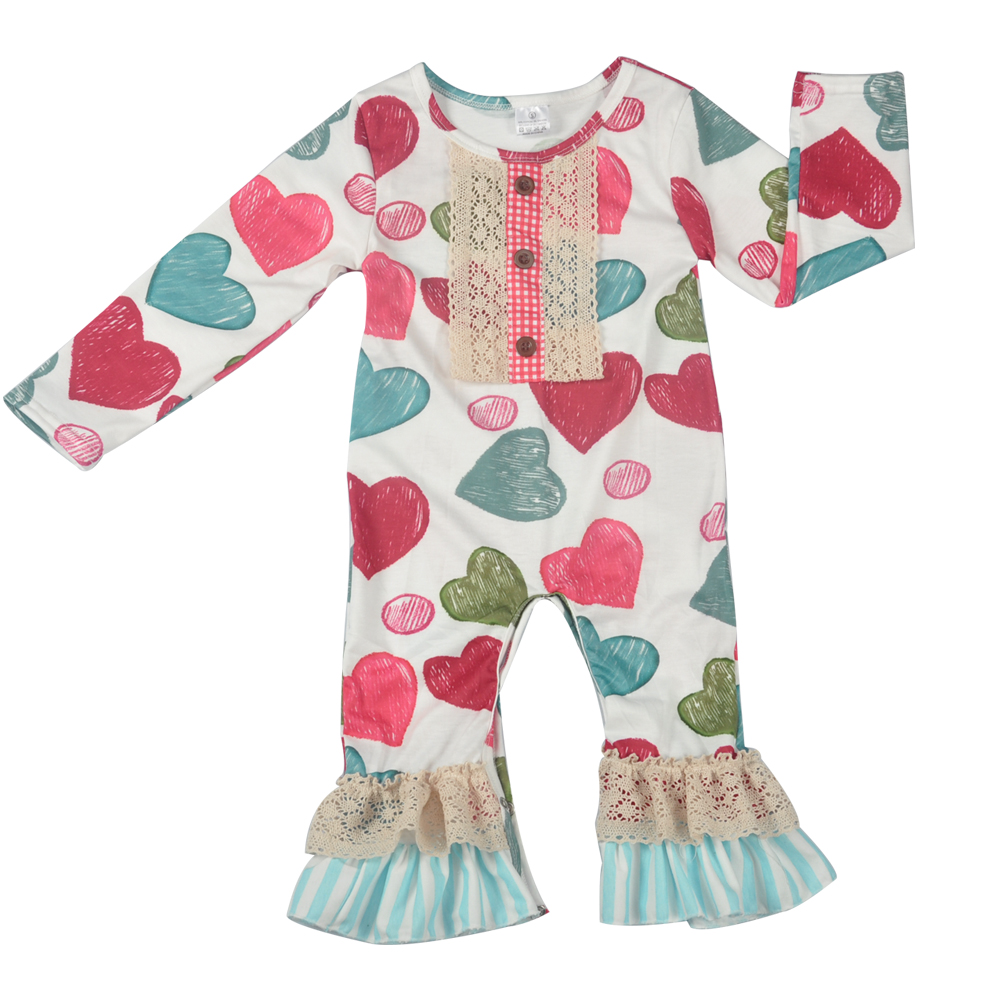 CONICE NINI Hot Love Baby Infant Spring Long Sleeve Cotton Baby Girl Splice Rompers Toddler Clothes Girl Boutique Clothes R038 spring autumn baby cotton knit rompers baby girl long sleeve knitted overalls infant girl floral embriodery bebes infant clothes