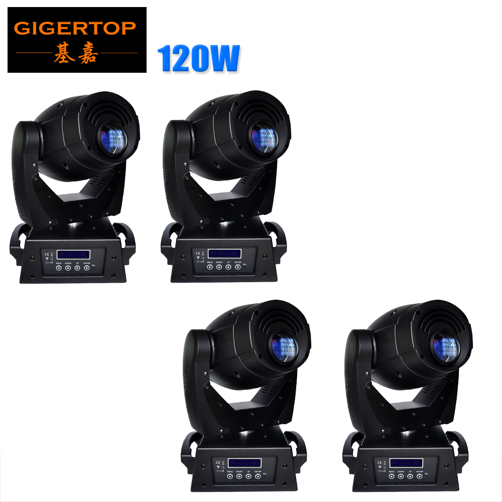 Discount Price 4 Pack 120W Led Moving Head Light Big Size Equip Hanging Clamp DMX IN/OUT Con Linear Dimmer High Speed Strobe