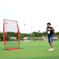Baseball & Softballs Practice Net with Bow Frame Strike Zone Target Compact Carrying Bag Outdoor Sports High Quality