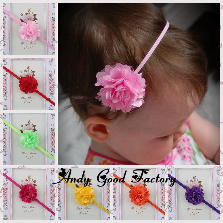 Small Satin Bow With Angel Wing Handmade Headband Baby Girl Toddler Newborn Lot
