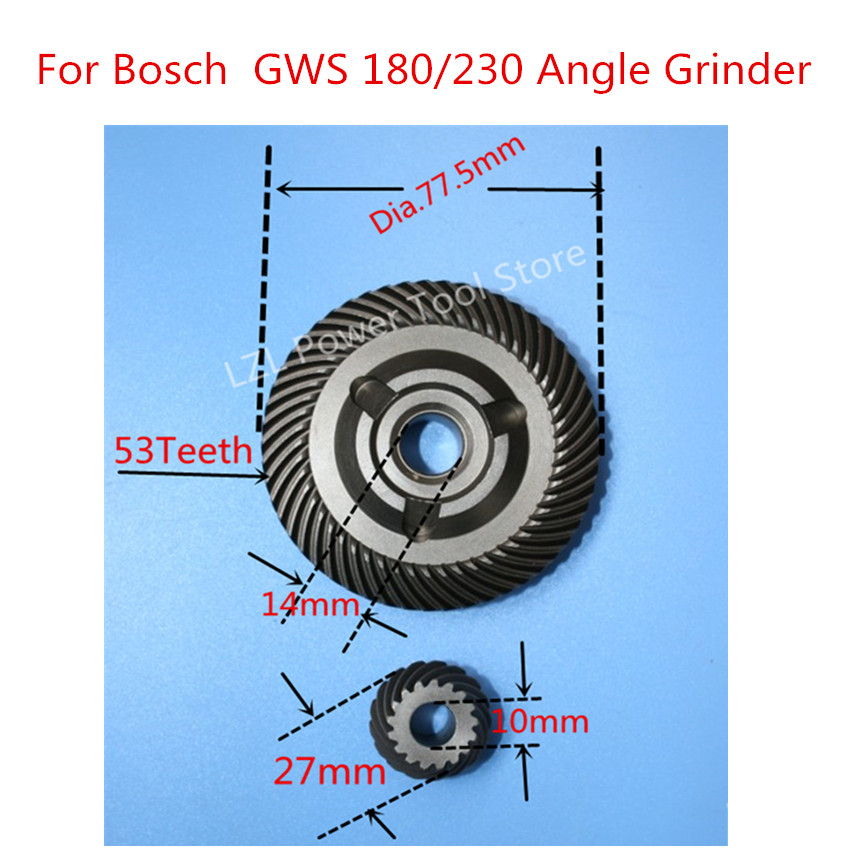 Replacement Crown  Spiral Bevel Gear Set for Bosch GWS23-180JS GWS25-180S GWS25-180JS GWS21-180 GWS23-180 GWS24-180J GWS25-180J стоимость