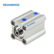 NBSANMINSE CQ2B 100mm Bore ISO Compact Cylinder SMC Type Double Acting Single Rod Pneumatic compressed air cylinder compressed air cj2b 16 bore size iso air cylinder single acting spring return extend double acting pneumatic parts sanmin