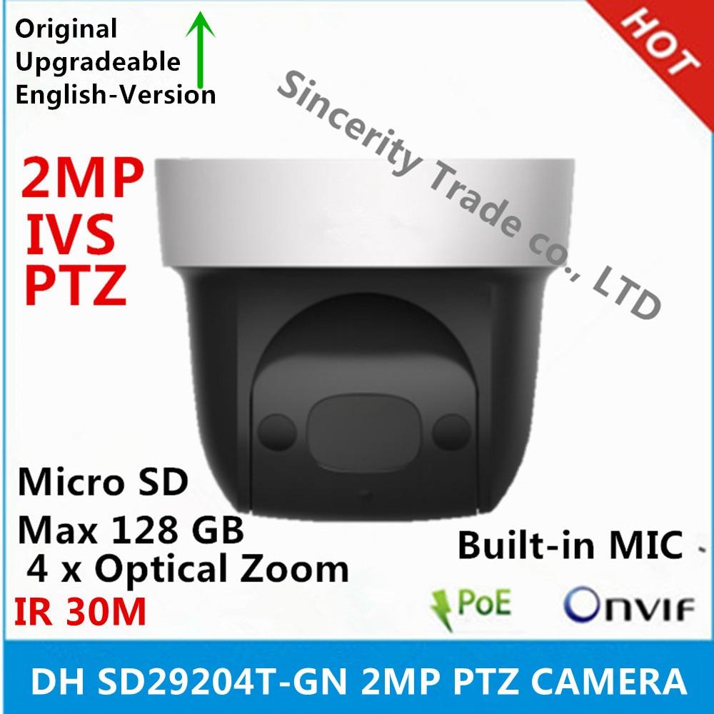 original DH SD29204T GN 2Mp Network Mini IP Speed Dome 4x optical zoom PTZ ip camera