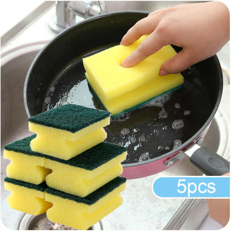 Сильный 5 шт./компл. губка для чистки украшения волшебная очиститель кухни Ванная