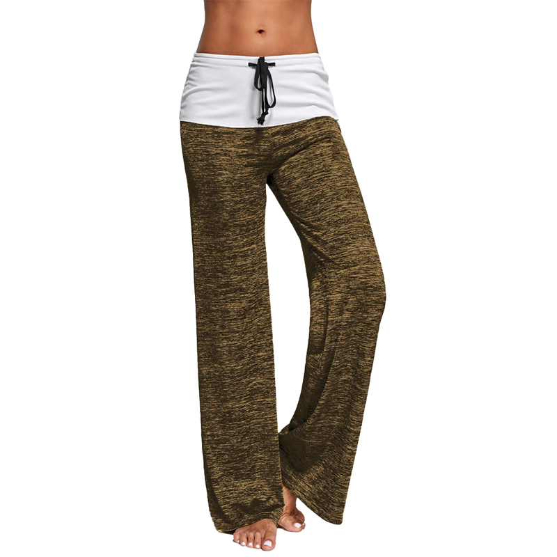 2018 Women Elastic Drawstring Waist Casual   Pants   Loose Long   Capris     Pants   Straight Trousers Wide Leg Sportswear Girls Tracksuit