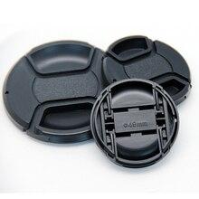 Горячая центральный оснастки передняя крышка объектива Крышка для объектива камеры Nikon с ремешком 40,5 49 52 55 58 62 67 72 77 мм