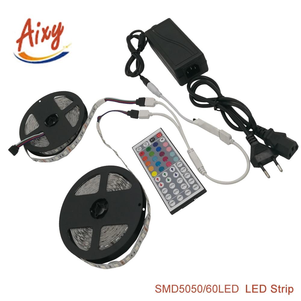 RGB Led Strip 5050 SMD Vodotěsné / Nevoditelné 60LED / M DC12V LED - LED Osvětlení