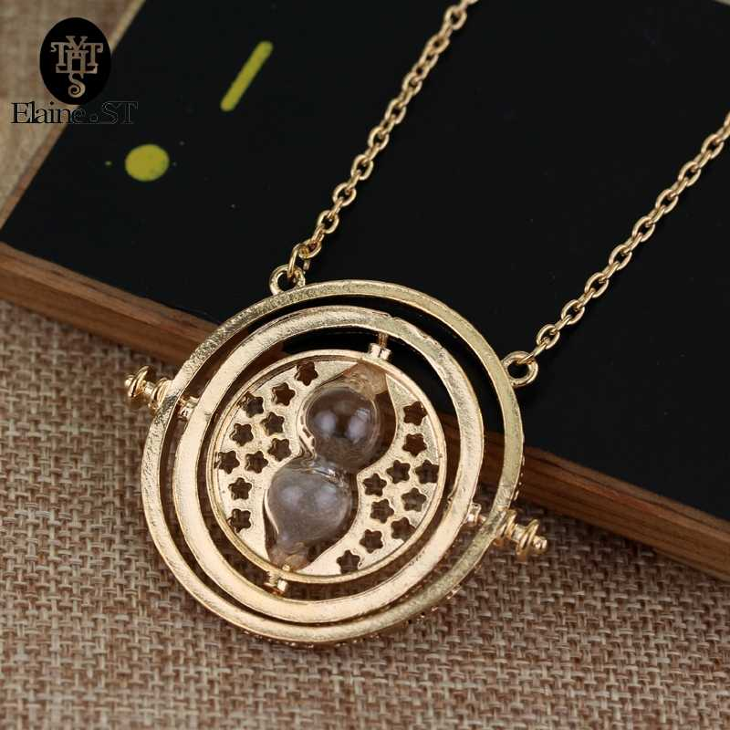 6 colors Hermione Granger Rotating Horcrux Time Turner Necklace Time Converter Flywheel Timing pendant Necklace For Mwn Women