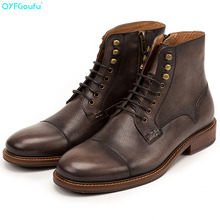 Fashion High Quality Men Boots Luxury Brand Warm Casual Shoes Genuine Leather Mens Chelsea