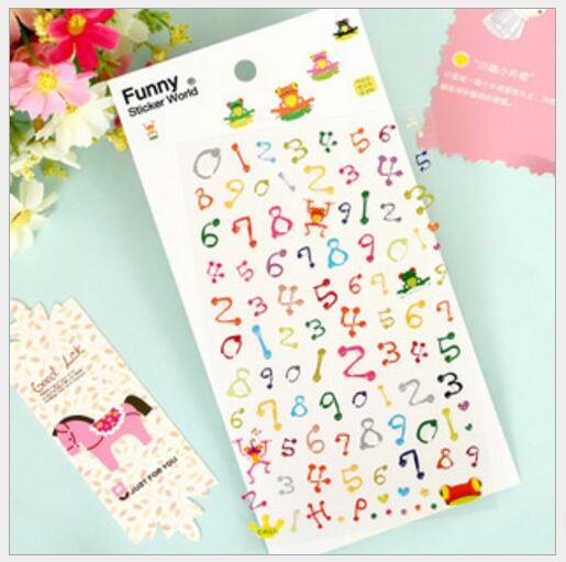 Japan Frog Digital Alphabet Stickers /DIY Scrapbook Diary Deco Stickers/Decorative Items/School Stationery Supplies WJ0550