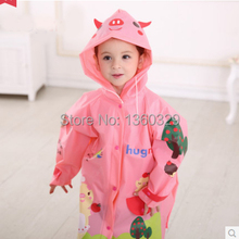 Japanese Style Pink Blue Green Cartoon burberry kids Raincoat Yellow Baby Eco friendly Poncho Children with