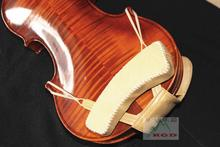 Free Shipping violin shoulder pad + Chinrest Cover two-in-one Geniune Leather Super comfortable Only full Size available