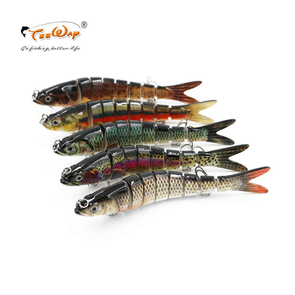 Lifelike Fishing Lure 8 Segment Swimbait Crankbait Hard Bait Slow 30g 14cm With 6# Fish Hooks Fishing Tackle Fishing Wobblers