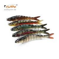 Lifelike isca de pesca 8 segmento swimbait crankbait duro isca lenta 30g 14cm com 6 # ganchos de peixe pesca equipamento de pesca wobblers