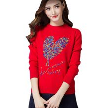 High Quality 2017 Fashion Women Autumn Winter Sweater Sweaters Casual Warm Long Sleeves Female Knitted Sweater Sweater Lady N N