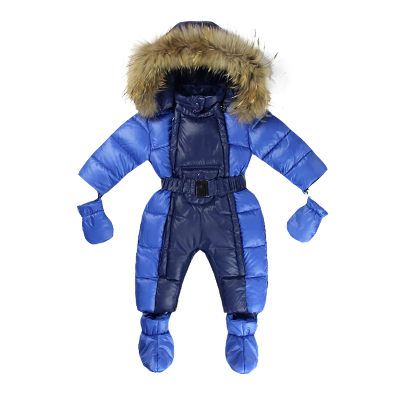 Newborn 3-12m Infant Romper Warm Clothes -10 to -30 Degree Suit for Russia Winter Girls Boys Baby Fur Gloves Snow Season 2016 winter new soft bottom solid color baby shoes for little boys and girls plus velvet warm baby toddler shoes free shipping