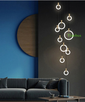 Suspended Lamp White Art Deco Rectangular Pendant Light Wood Lamp Ceiling Raindrop Pendant Light Wood Light Fixtures Nordic
