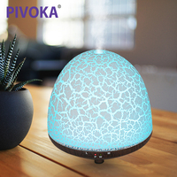 PIVOKA Electric Wood Humificador Grain Air Purifier Humidifier Essential Oil Mist Maker Aroma Diffuser LED Night