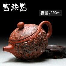 Heißer Verkauf 220 ml Antike Yixing Clay Teekanne Hohe Qualität keramik Teekanne Kung Fu Sonderangebot Tetera Handgemachtes Geschenk Freies verschiffen