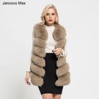 2018 New Arrival Real Fox Fur Vest Women Winter Soft Fox Fur Gilet Lady Fashion Fluffy Waistcoat Thick Warm Fur S1671