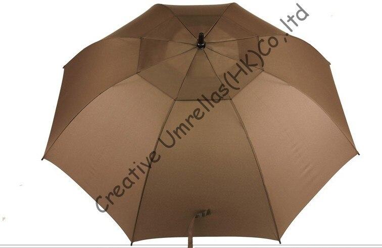 Windproof,anti-static straight golf umbrellas 14mm fiberglass shaft and 5.0mm fiberglass ribs,auto open,double layers