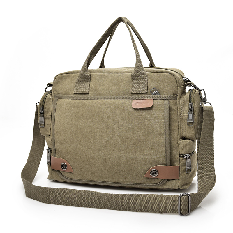 2019 New Men's Canvas Duffle Vintage Messenger Bag Business Handbags Casual Travel Laptop Shoulder Bag Men Large Travel Bags