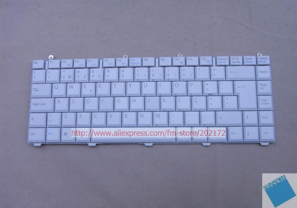 Brand New Laptop  Keyboard  White147915491 KFRMBK221A For SONY VAIO VGN-FS  VGN FS series (Poland) free shipping new russia white laptop keyboard for msi wind u130 u135 u135dx u160 u160dx ru white frame laptop keyboard