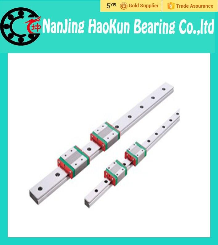 ФОТО Kossel Mini MGN9 9mm miniature linear slide set: 1pcs MGN9 L- 350mm linear rail with 2pcs MGN9H linear block carriage