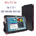 Tab 2 10.1 p5100 p5110 case capa, virar fique pu leather folio capa case para samsung galaxy tab 2 10.1 tablet gt-p5110 p5100