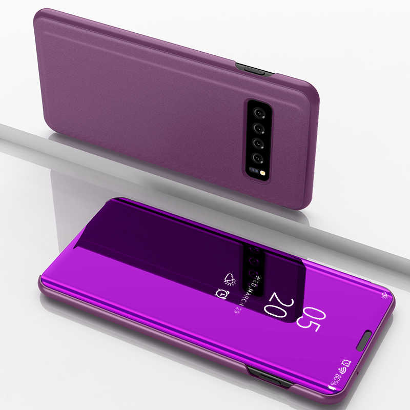 Умный зеркальный флип-чехол для телефона samsung Galaxy S10 S9 S8 S7 S6 Edge Plus S10E Прозрачный чехол для телефона samsung Note 9 8