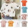 Bobo Choses Crianças Carta Tee T camisa Para Bebê Meninos Meninas Todders Topos de Roupas 2017 Nova Primavera Outono Inverno