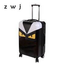 af9e52941bd6d 2017 nowy potwór do przenoszenia bagażu, i staje w sytuacji sam na sam PU  skórzana walizka torba podróżna na kółkach lekki przec.
