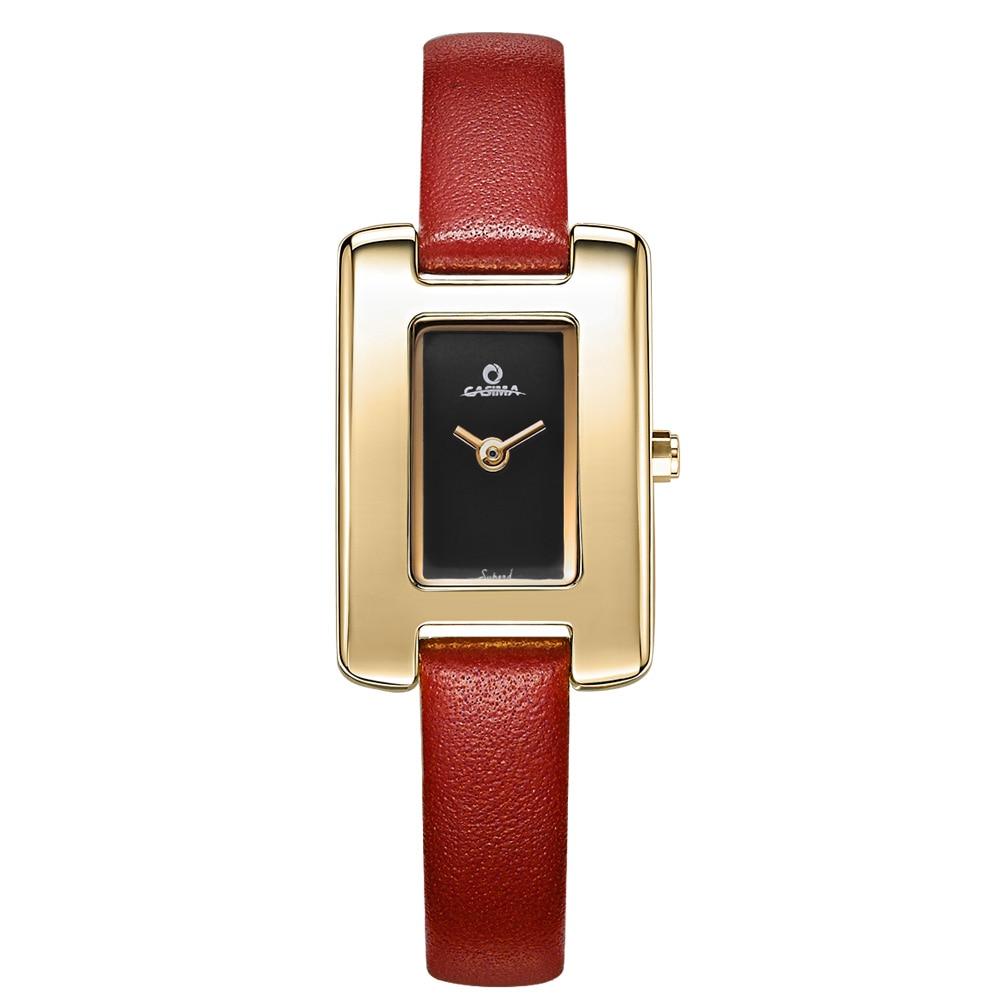 women watches red leather quartz watch Fashion Casual Elegant luxury ladies wristwatch waterproof 50m tag watch CASIMA#2612|watch f|watch fashion|watch red - title=