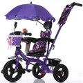 Buena calidad de goma neumáticos triciclo Niño cochecito de bebé a prueba de fugas de aire de la rueda sitair bicicleta de la bici de ruedas de aire para 1-5 años de edad
