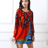 New Autumn Winter 2016 Fashion Women Long Sleeve Dresses Plus Size Dress Loose Girl Casual Tops