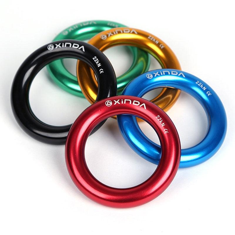 P168 Aluminum small ring outdoor mountaineering climbing top ring multi - purpose ring climbing tree flat belt loop belt loop