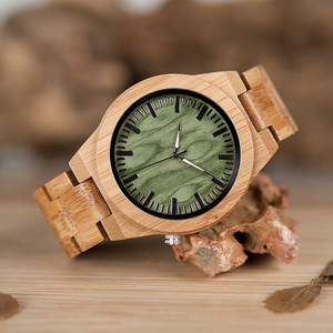 Image 5 - BOBO oiseau V B22 Original bambou montre pour homme classique pliant fermoir Quartz mouvement montre bracelet erkek kol saati