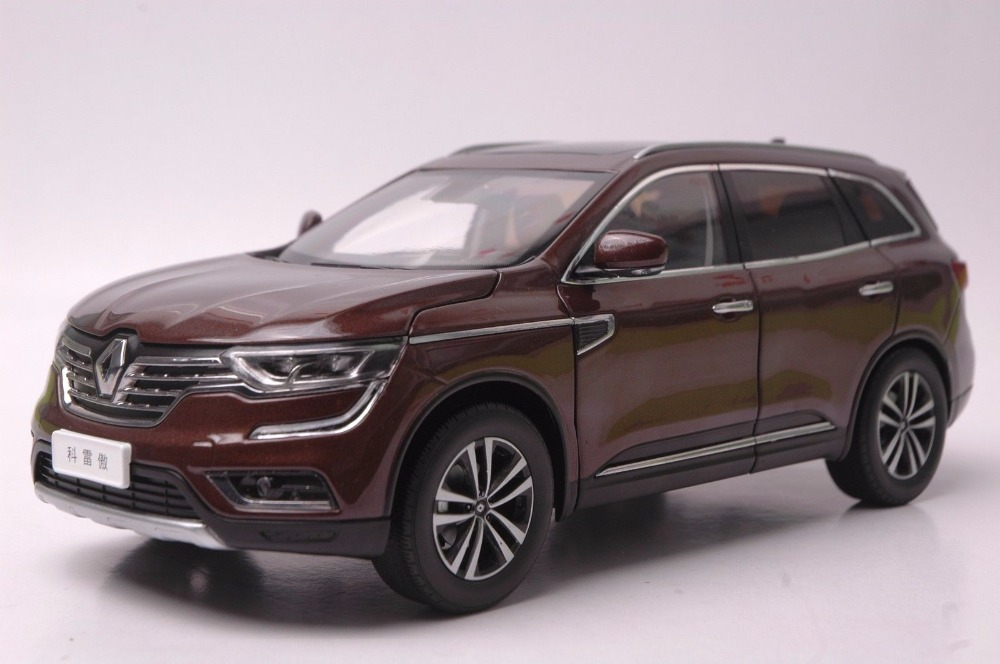 1:18 Diecast Model for Renault Koleos 2017 Brown SUV Alloy Toy Car Miniature Collection Gift 1 18 vw volkswagen teramont suv diecast metal suv car model toy gift hobby collection silver